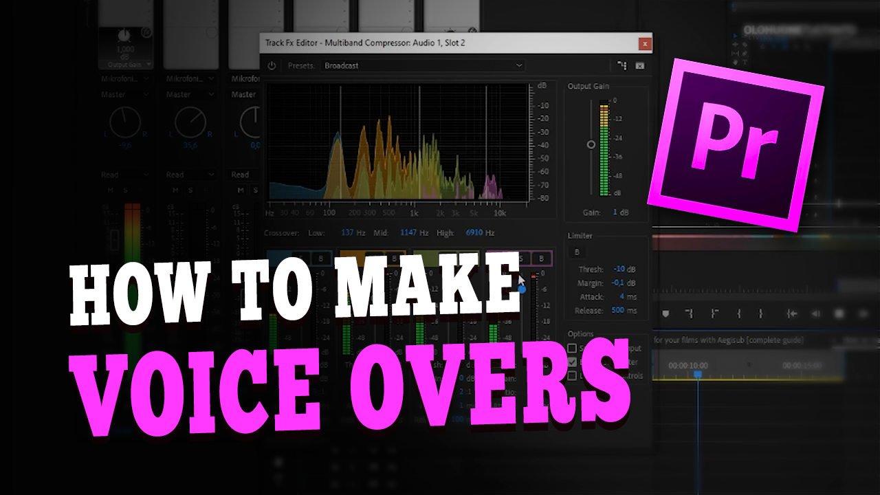 How to make voice overs for your videos with Adobe Premiere (Beginner tutorial)