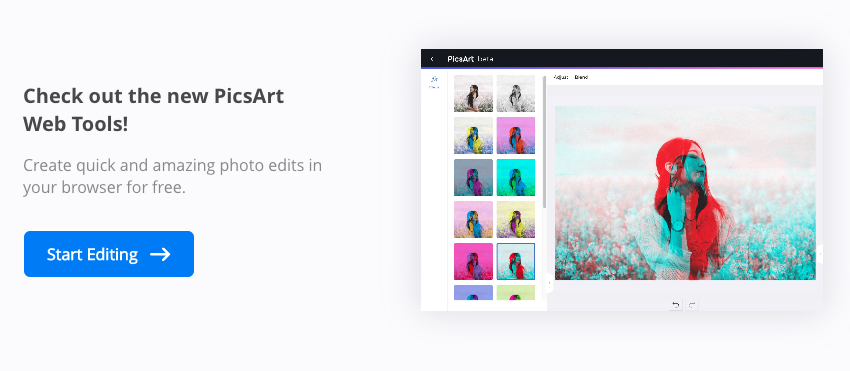 PicsArt All-in-one Photo Editor